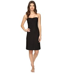 Only Hearts Club Second Skins Strapless Chemise Black Women's Pajama