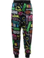 Moschino Neon Sign Track Pants Black