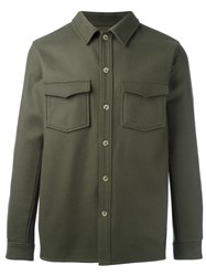 A.P.C. Buttoned Shirt Jacket Green
