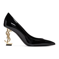 Saint Laurent Black And Gold Opyum 85 Heels