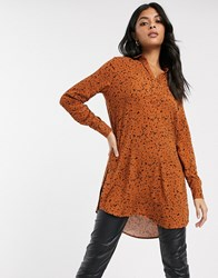 B.Young Printed Open Neck Shirt Multi