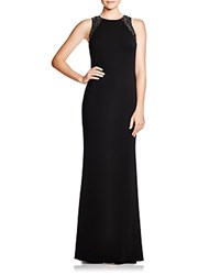 Carmen Marc Valvo Infusion Sleeveless Sequin Back Gown