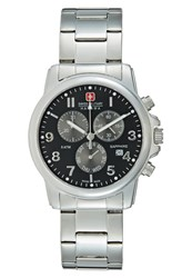 Swiss Military Hanowa Soldier Chronograph Watch Silvercoloured