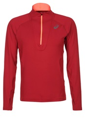 Asics Long Sleeved Top Deep Ruby Red
