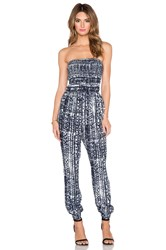 Greylin Ebba Smocked Jumpsuit Blue