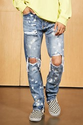 Forever 21 Mnml Distressed Jeans Blue