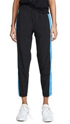 Splits59 Hill Crop Pants Black Neon Blue