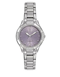 Citizen Diamonds And Stainless Steel Floral Bracelet Watch Em0450 53X Silver