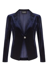James Lakeland Velvet Jacket Navy