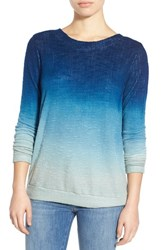 Young Fabulous And Broke Women's Young Fabulous And Broke 'Robin' Ombre V Back Sweater Blue Ombre