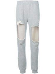 Forte Couture Cut Out Track Pants Cotton Polyester Grey