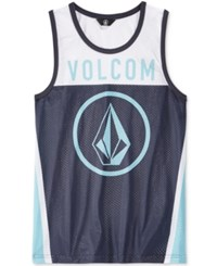 Volcom Men's Graphic Print Tank Top Blue Coast