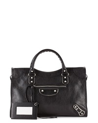 Balenciaga Metallic Edge Classic City Bag Black
