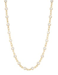 Lord And Taylor Cubic Zirconia Cable Chain Necklace Gold