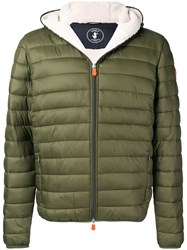 Save The Duck Hooded Padded Jacket Green