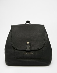 Ted Baker Exotic Stab Stitch Leather Backpack 00Black