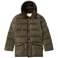Mackintosh Corduroy Collar Down Jacket Green