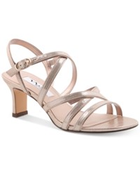 Nina Genaya Strappy Evening Sandals Women's Shoes Taupe
