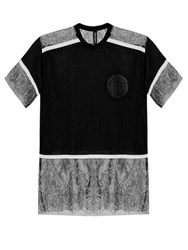 Astrid Andersen Lace And Mesh T Shirt Black Multi