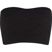 River Island Womens Black Bandage Bandeau Crop Top