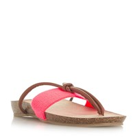 Head Over Heels Lilibet Elastic Toe Thong Sandals Coral