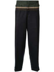Kolor Contrasting Panelled Tapered Trousers Black