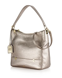 Lauren Ralph Lauren Hobo Morrison Double Zip Metallic Moonlight