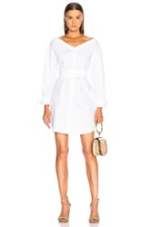 Frame Belted Dress In White