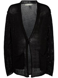 Isabel Benenato Open Cardigan Black