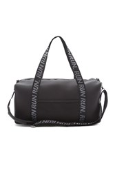 Forever 21 Active Run Graphic Duffle Bag Black White