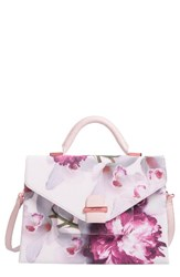 Ted Baker London Ethereal Posie Faux Leather Satchel Pink Nude Pink