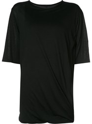 Forme D'expression Draped T Shirt Women Viscose Cashmere Xs Black