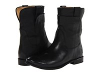 Frye Paige Short Riding Black Smooth Vintage Leather Women's Pull On Boots