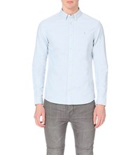 Allsaints Hungtingdon Regular Fit Cotton Shirt Light Blue