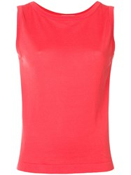 John Smedley Casual Sleeveless Top Pink And Purple