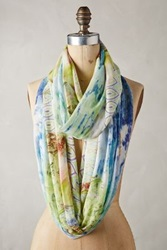 Anthropologie Lotus Blossom Infinity Scarf Pink