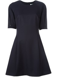 Kenzo Fit And Flare Dress Blue
