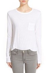 Women's T By Alexander Wang Crop Long Sleeve Tee White