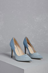 Forever 21 Ombre Denim Pumps Light Blue