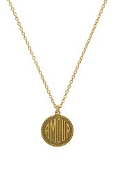 Natalie B Amour Charm Necklace Gold
