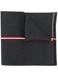Bally Embroidered Stripe Scarf 60