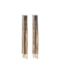 Fragments For Neiman Marcus Mixed Crystal Fringe Drop Earrings Gold