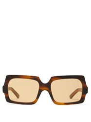 8def63616 Acne Studios George Square Frame Tortoiseshell Sunglasses Brown