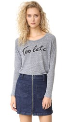 Sundry Too Late Long Sleeve Heather Grey