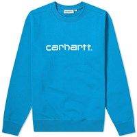 Carhartt Wip Logo Sweat Blue
