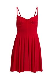 Norma Kamali Underwire Stretch Jersey Mini Dress Red