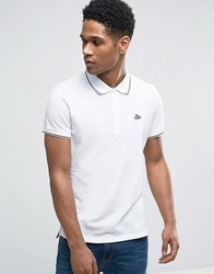 Esprit Slim Fit Polo Shirt With Contrast Tipping White