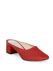 Saks Fifth Avenue Stack Heeled Mules Red