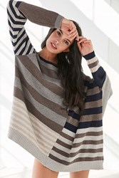 Silence And Noise Taylor Dolman Pullover Sweater Cream Multi