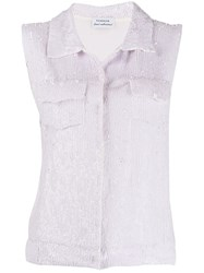 P.A.R.O.S.H. Sequinned Cropped Gilet 60